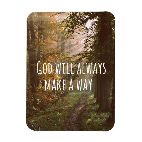Inspirational God will make a Way Quote Rectangular