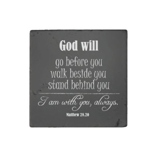 Inspirational God Will Quote with Bible Verse Stone Magnet