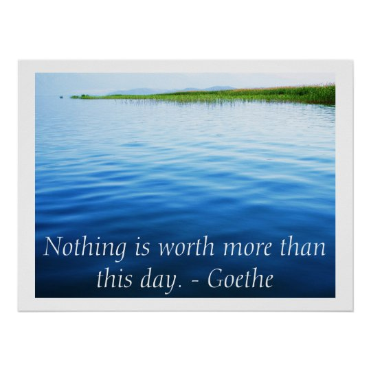 Inspirational Goethe quote poster