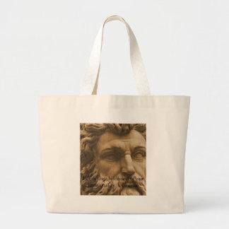 Inspirational Goethe Quote Jumbo Tote Bag