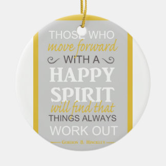 inspirational gordon b hinckley lds quote christmas ornament
