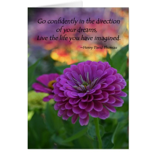 Inspirational greeting card confidence quote gifts