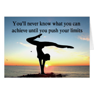 INSPIRATIONAL GYMNASTICS QUOTE DESIGN CARD