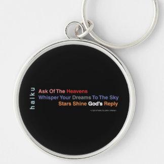 Inspirational Haiku Bespoke Keychain