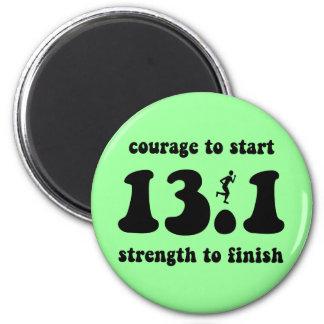 Inspirational half marathon 6 cm round magnet