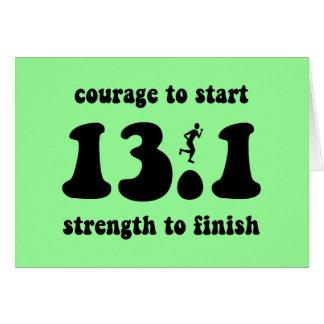 Inspirational half marathon card