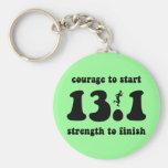 Inspirational half marathon basic round button key ring