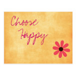 Inspirational Happy Message Postcard