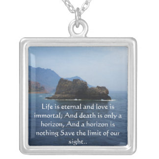 Inspirational HEALING quote jewlery Square Pendant Necklace