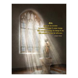 Inspirational - Heavenly Father - Senrenity Prayer 21.5 Cm X 28 Cm Flyer