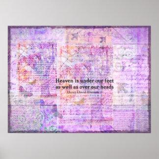 Inspirational Henry David Thoreau quote HEAVEN Print
