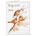 Inspirational His Eye is on the Sparrow, Card