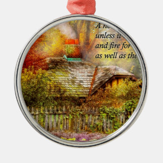 Inspirational - Home is where it's warm inside Christmas Ornament