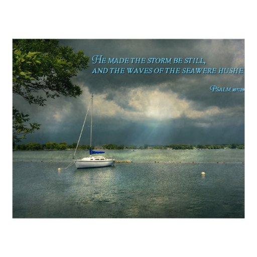 Inspirational - Hope - Sailor - Psalm 107-29 Flyers