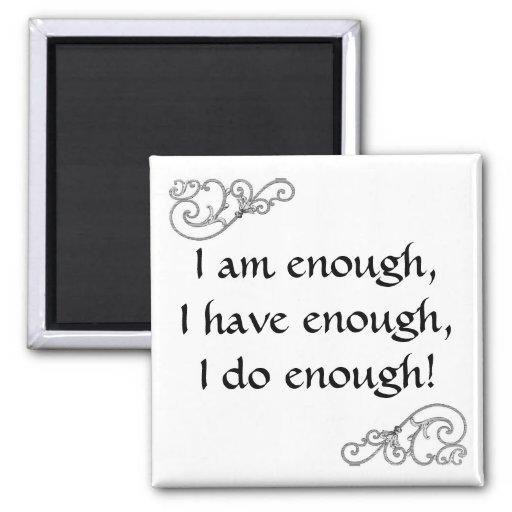 inspirational I Am Enough Affirmation Magnets