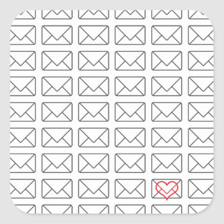 Inspirational I Love you note Square Sticker
