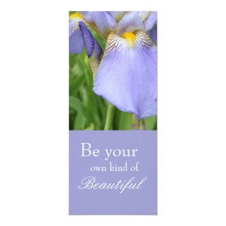 Inspirational Iris Bookmark 10 Cm X 24 Cm Invitation Card