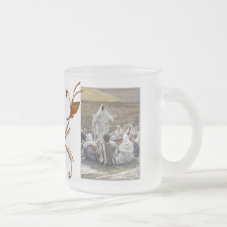 Inspirational Jesus Bible Faith Hope Love Frosted Glass Mug
