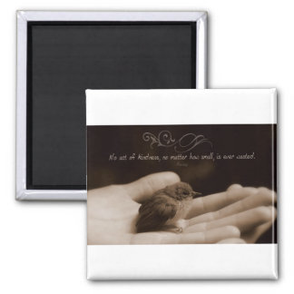 Inspirational Kindness Quote by Aesop Square Magnet
