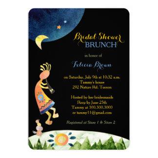 Inspirational Kokopelli Art Bridal Shower Brunch 13 Cm X 18 Cm Invitation Card