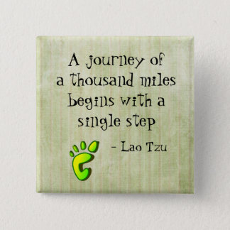 Inspirational Lao Tzu Quote 15 Cm Square Badge
