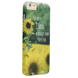 Inspirational: Let Your Faith Be Bigger Than Fear Barely There iPhone 6 Plus Case