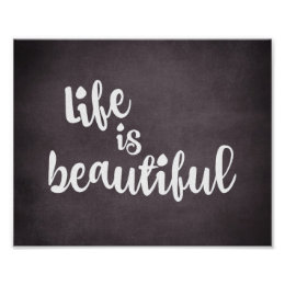 Incroyable Inspirational Life Is Beautiful Quote Poster ...
