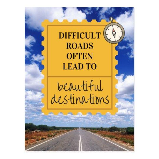 Inspirational Life Motto Postcard