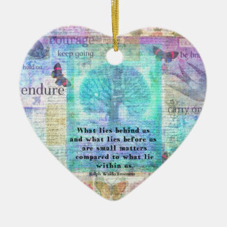 Inspirational Life Quote Ceramic Heart Decoration