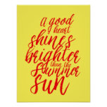 Inspirational Life Quote Hand Lettering Poster