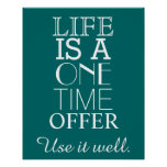 Inspirational LIFE Quote Poster - Personalise