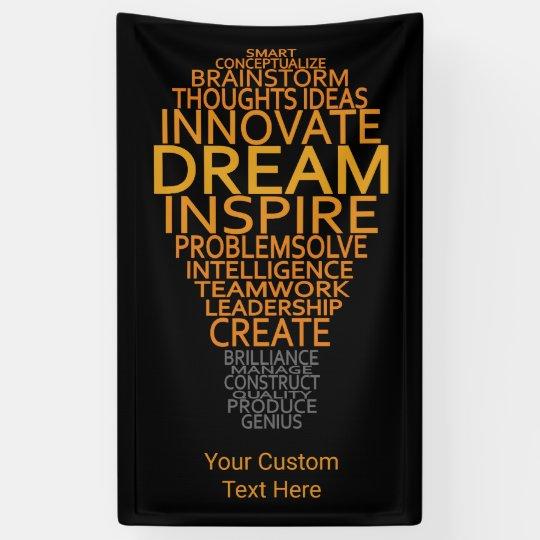 Inspirational Light Bulb custom banner