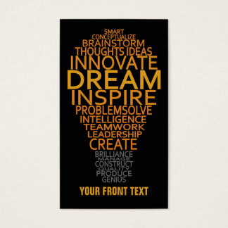 Inspirational Light Bulb custom business cards