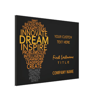 Inspirational Light Bulb custom canvas print