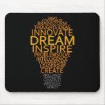 Inspirational Light Bulb custom mousepad