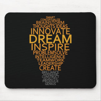 Inspirational Light Bulb custom mousepad