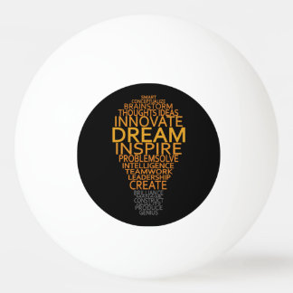 Inspirational Light Bulb custom ping pong balls