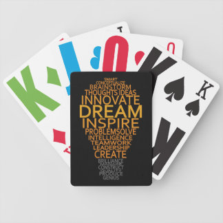 Inspirational Light Bulb custom playing cards