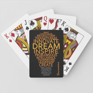 Inspirational Light Bulb custom playing cards