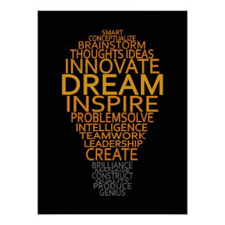Inspirational Light Bulb custom poster