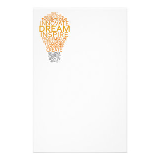 Inspirational Light Bulb custom stationary Stationery Paper