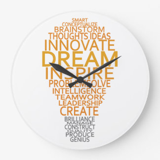 Inspirational Light Bulb custom wall clock