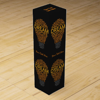 Inspirational Light Bulb custom wine gift box