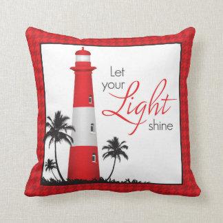 Inspirational Lighthouse Throw Pillow