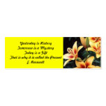 Inspirational Lily Bookmark Business Card Templates