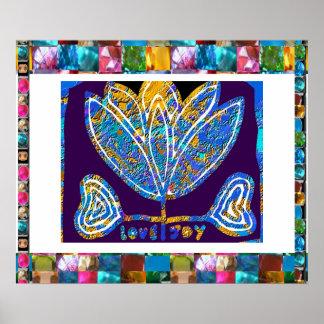 Inspirational Lotus Blue Print