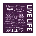 Inspirational Love Life Wrapped Canvas Gallery Wrap Canvas