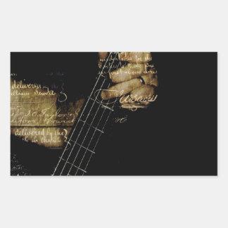 Inspirational Lyric Guitar Rectangular Sticker