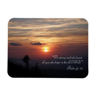 Inspirational Magnet Psalm 31; 24