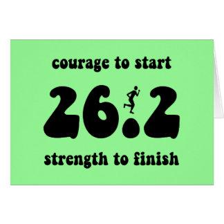 Inspirational marathon greeting card